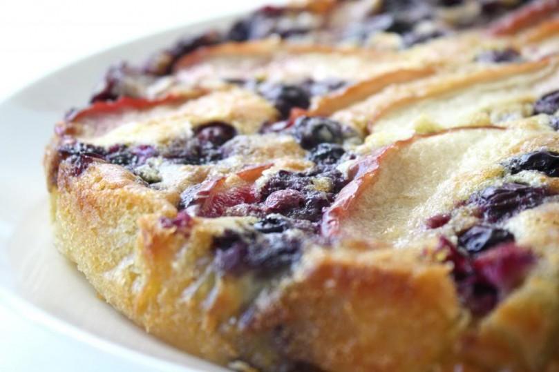 snelle appel-bosbessencake
